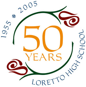 [Logo: Loretto High School 50-year celebration]